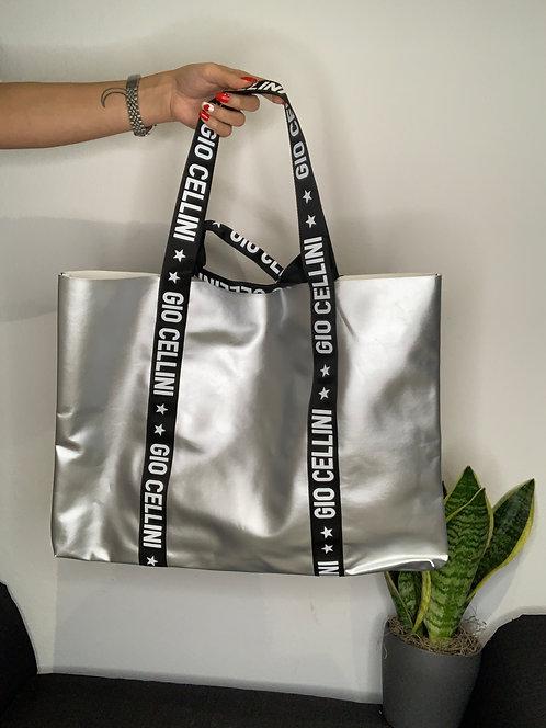 Big Beach Bag argento - Gio Cellini
