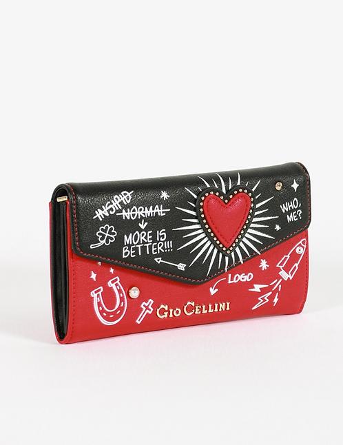 Portafoglio heart rosso -  Gio Cellini