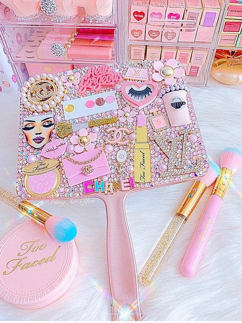 Hello Gorgeous Pink Makeup Handheld Mirror