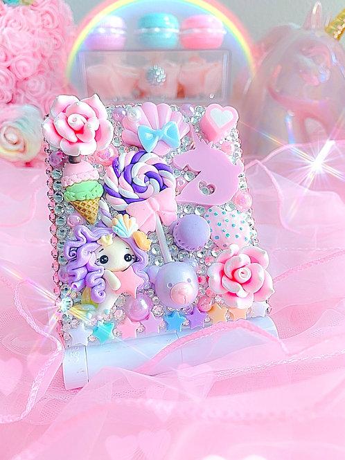 Unicorn mermaid candy land - LED Compact Mirror