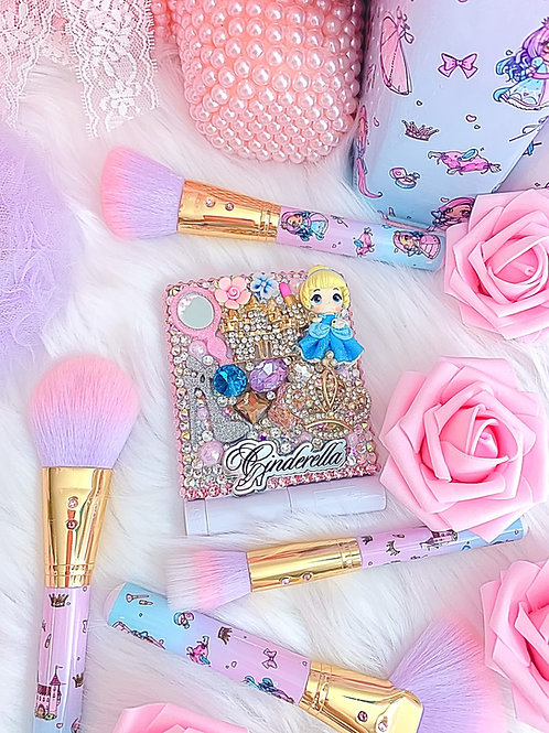 Princess in a castle LED compact mirror