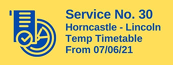 Service No. 30 Horncastle - Lincoln via