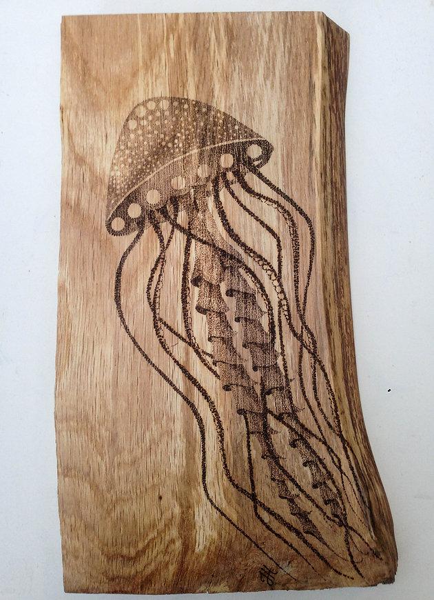 Jelly fish on oak