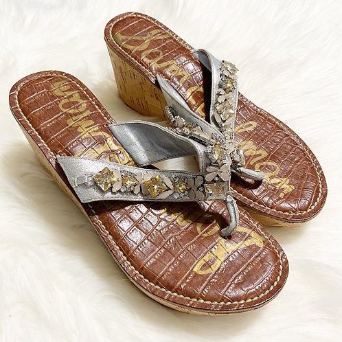 Sam Edelman Randi Crystal Embellished Platform Wedge Sandal