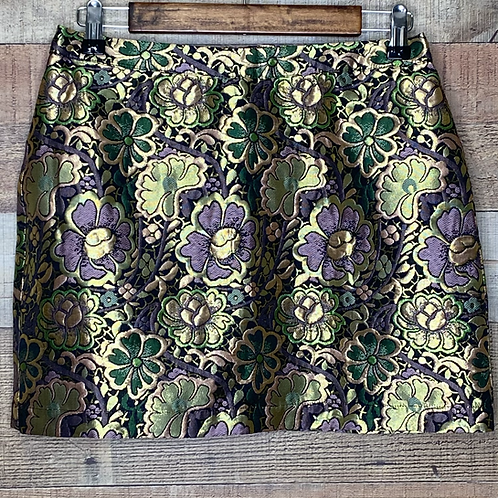 ASOS Gold Purple & Green Metallic Mini Skirt