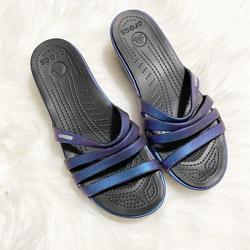 Crocs Rhonda Iridescent wedge Sandals