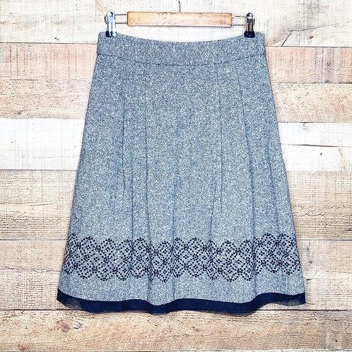 Loft Wool Blend Embellished Skirt