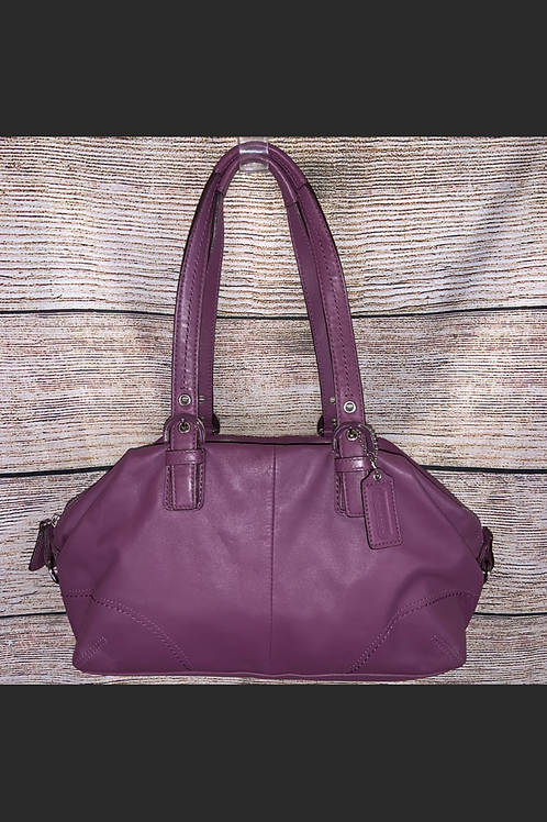 Coach Soho Purple Leather Satchel