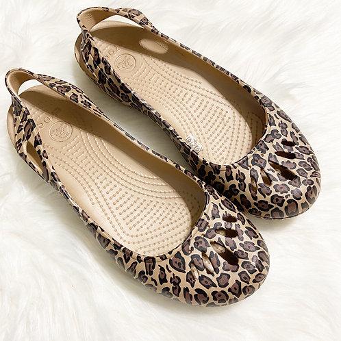 Crocs Taylor Leopard Print Flat