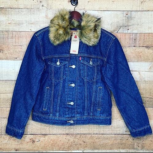 Levi's ExBoyfriend Faux-Fur Collar Trucker Jacket