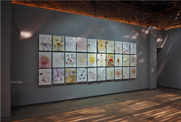 I Gave My Life for You. What Did You Give for Me?   monotype& drawing  on arches, Installation, 2017