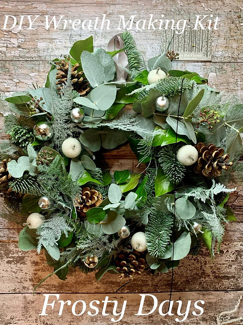 Frosty Days Luxury DIY Wreath Making Kit