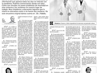 Delia y Gustavo: Entrevista para el Diario La Opinión de Santa Fe