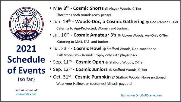2021 Cosmic DG Calendar Schedule Flyer.j
