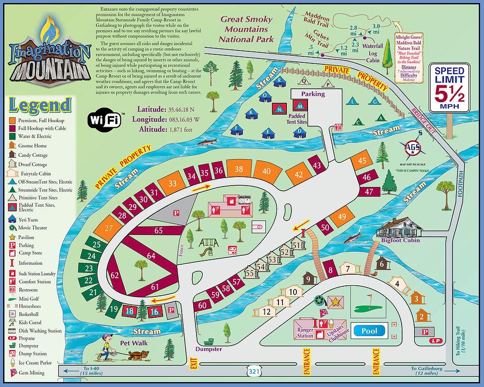 Gatlinburg Campground Map