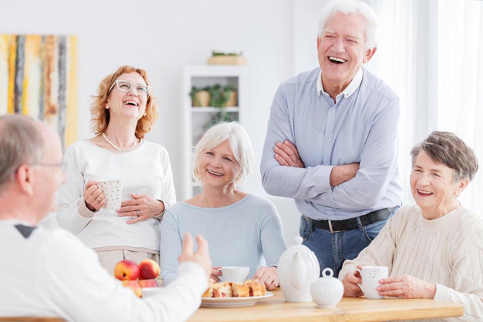 Senior group laughing shutterstock_66740