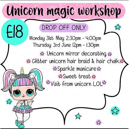 unicorn monday 31st may: thursday 3rd ju