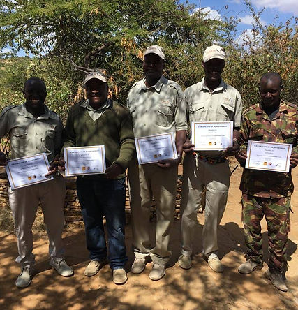 Lion Ranger Certificates presented by El Karama Guides.