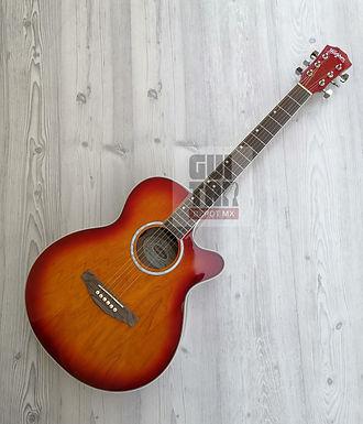 Guitarra electroacustica washburn con accesorios WA45CEPAK