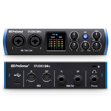 Interfaz de audio presonus studio 24C