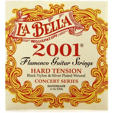CUERDAS DE GUITARRA CLÁSICA LA BELLA 2001 FLAMENCO HARD TENSION