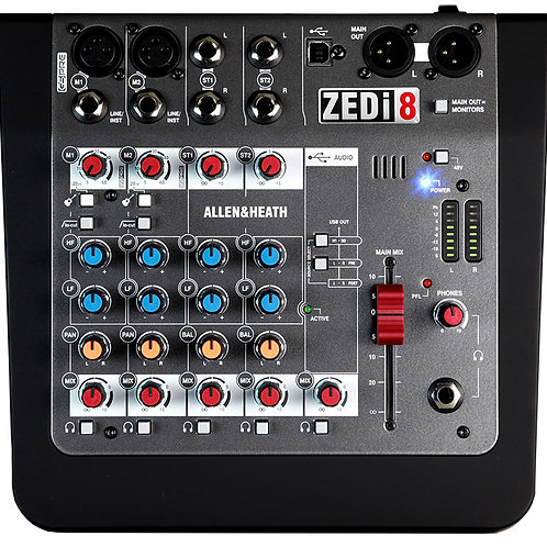 Mezcladora allen and heath ZEDi-8
