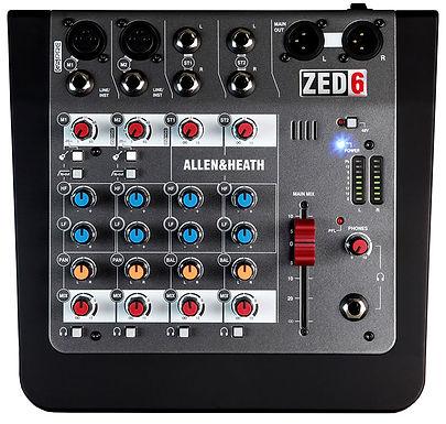 Mezcladora allen and heath ZED-6