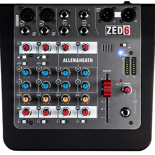Mezcladora allen and heath ZED-6