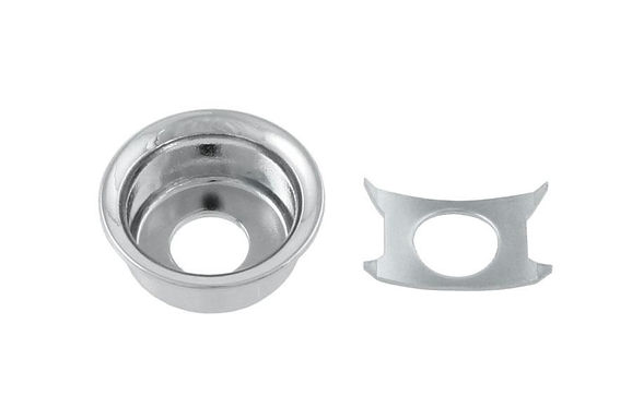 NICKEL INPUT CUP JACKPLATE FOR TELECASTER® ALL PARTS