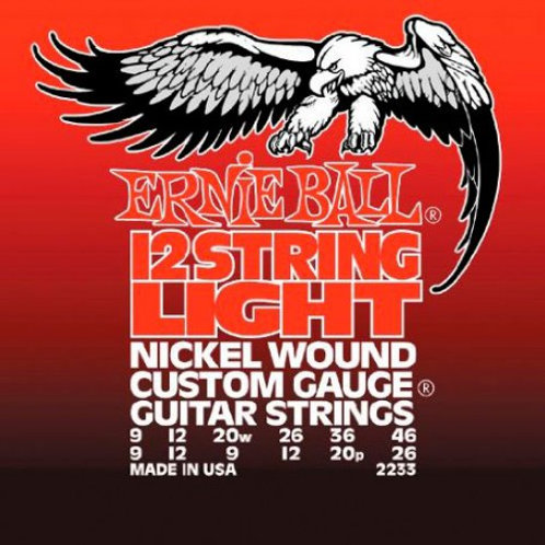 CUERDAS ELÉCTRICA ERNIE BALL  2233 12 STRINGS LIGHT