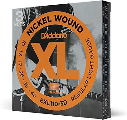 Cuerdas para guitarra eléctrica de acero D'Addario EXL110-3D