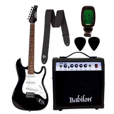 paquete guitarra electrica babilon BEG-KIT3