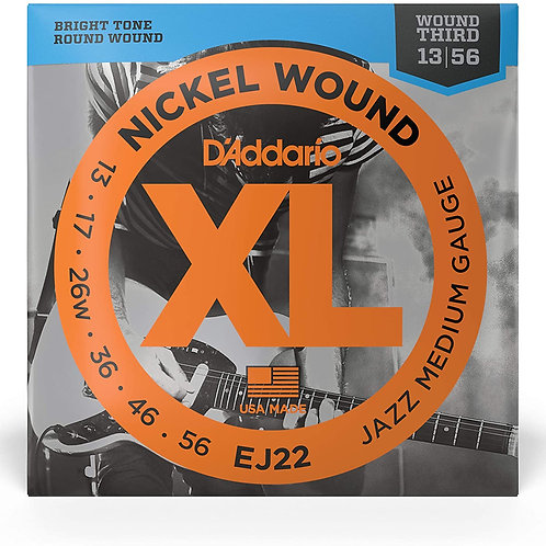 D'Addario EJ22 - Juego de cuerdas para guitarra eléctrica de níquel