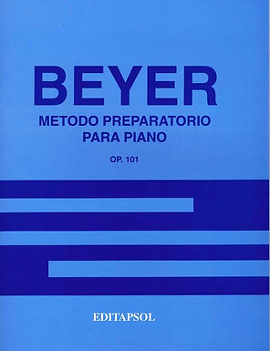 BEYER  METODO PREPARATORIO PARA PIANO