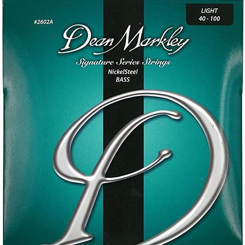 Dean Markley 2602A - Juego de cuerdas para bajo de acero de níquel, 40-100