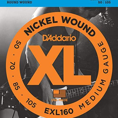 cuerdas addario bajo EXL160