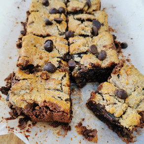 Vegan and Paleo Chocolate Almond Butter Blondies