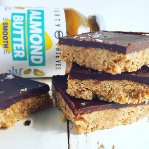 No Bake Chewy Almond Slice