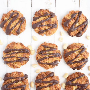 Chocolate and Macademia Anzac Biscuits