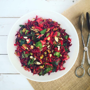 Raw Beet and Quinoa Energy Salad
