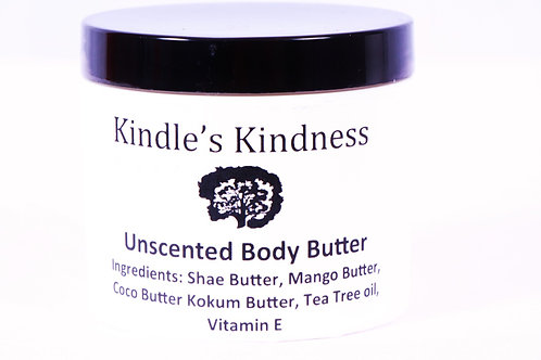 Unscented body butter 4oz