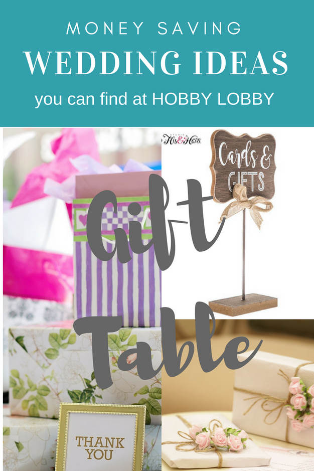 Wedding gift table decor ideas you can find at hobby lobby forget your gift table can be a table you cover or think outside the box with a bench of piece of furniture negle Images