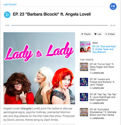 Guest on Lady to Lady Podcast
