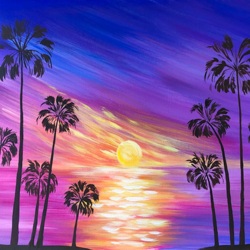 $30- Sunset Palms Paint Night
