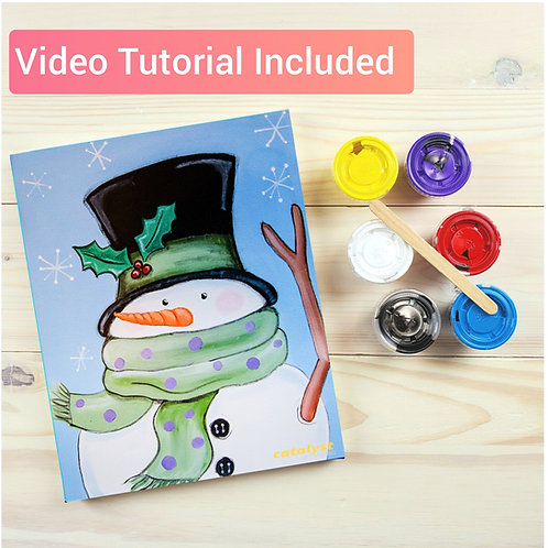 Folk Art Snowman Paint Kit