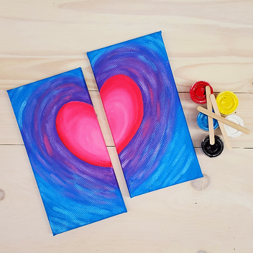 Heart Double Canvas Partner Painting