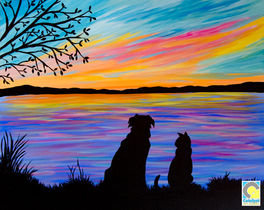 Dog Cat Silhouette