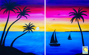 Couples Beach Painting
