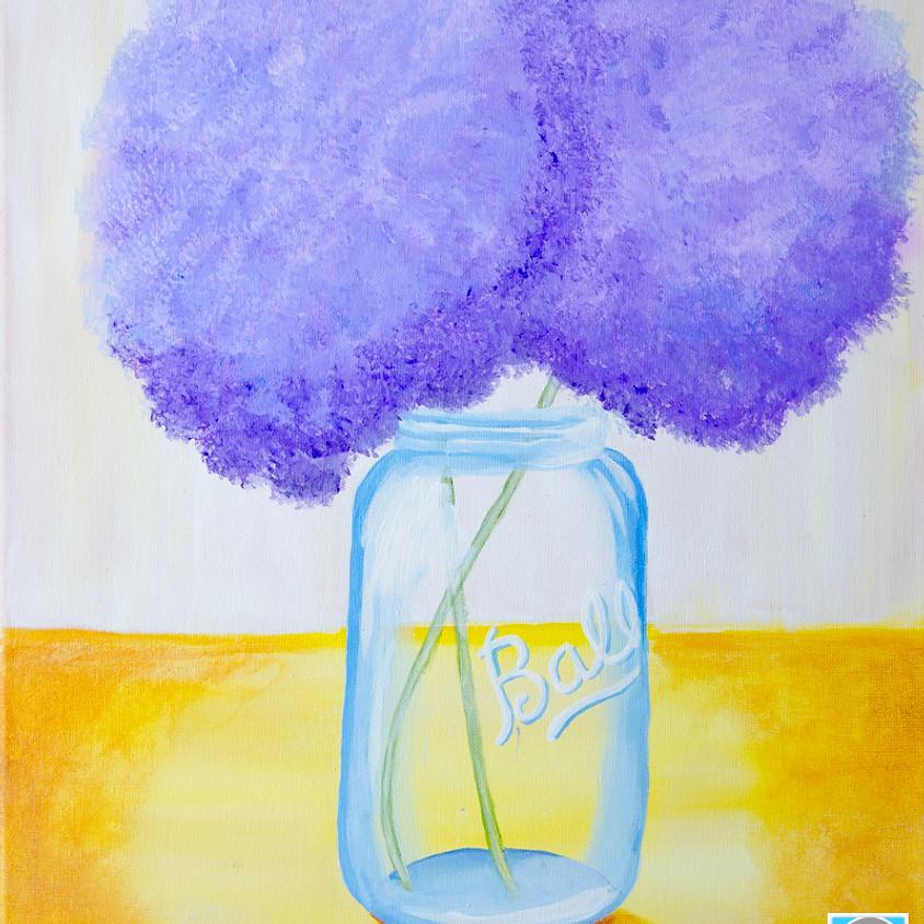 $39 Hydrangeas in a Jar Paint Night