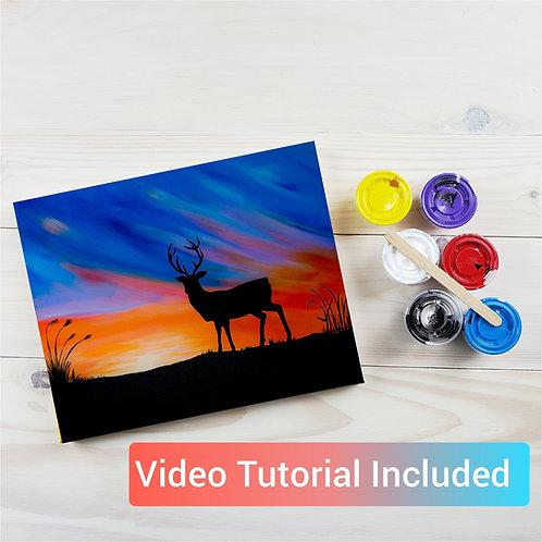 Deer Silhouette Paint Kit